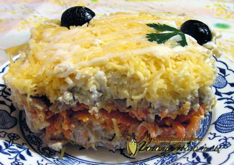 рецепт салата курочка ряба слоями с фото задирает