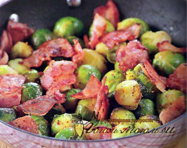 Брюссельская капуста с сосисками рецепты