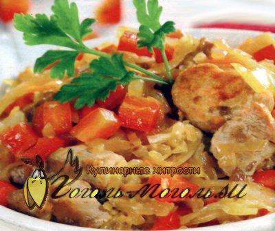Свинина, тушенная под квашеной капустой – кулинарный рецепт