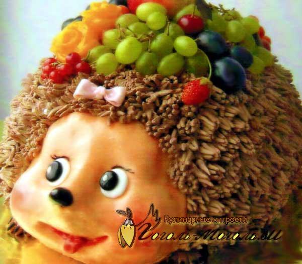 торт веселый ежик