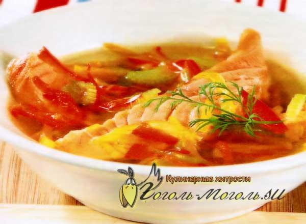 Рецепты суп из форели