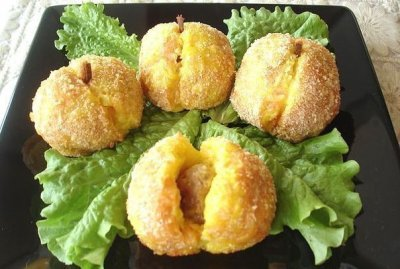Оригинальный картофельный гарнир «Персики»