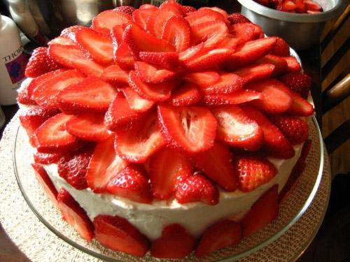 Фоторецепт торта из клубники