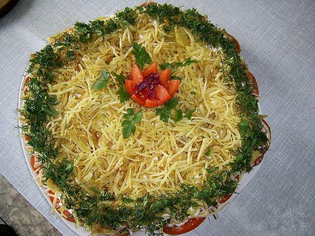 Салат с шампиньонами - Салаты с грибами - Кулинарные