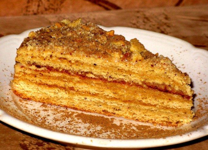Медовый торт со сгущёнкой рецепт с фото