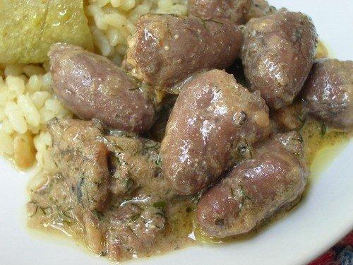 Рецепт приготовления сердца кур