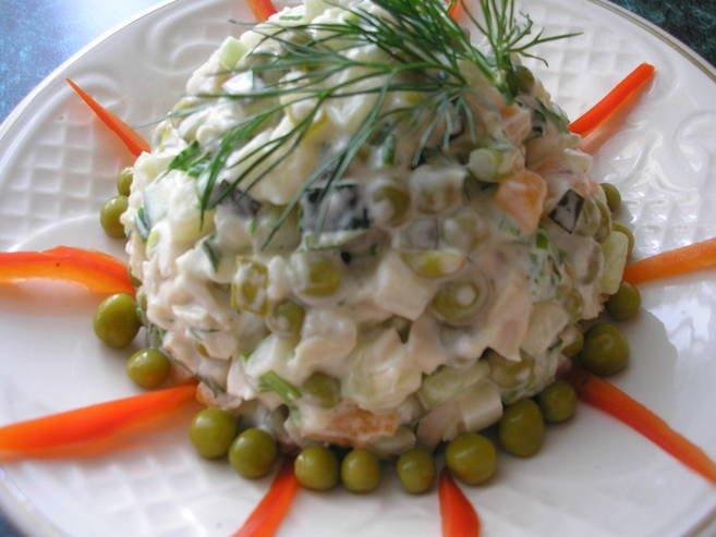 Салат постный из кальмаров рецепт очень вкусный